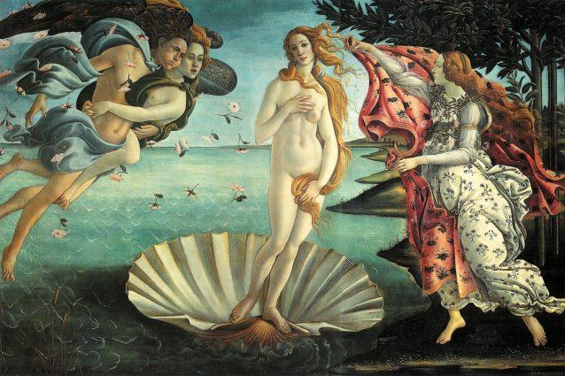 Sandro Botticelli, La nascita di Venere (1484–1486), Galleria degli Uffizi, Firenze