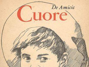 """Una copertina Garzanti del libro """"Cuore"""" di Edmondo De Amicis"""