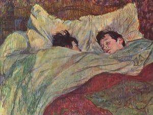 """""""Le lit"""", Henri de Toulouse–Lautrec"""