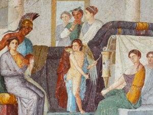 Affresco nella Villa Marco Lucrezio Frontone di Pompei
