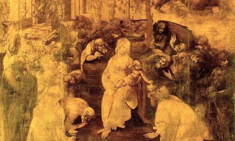 """""""Adorazione dei Magi"""" di Leonardo da Vinci, Galleria degli Uffizi"""