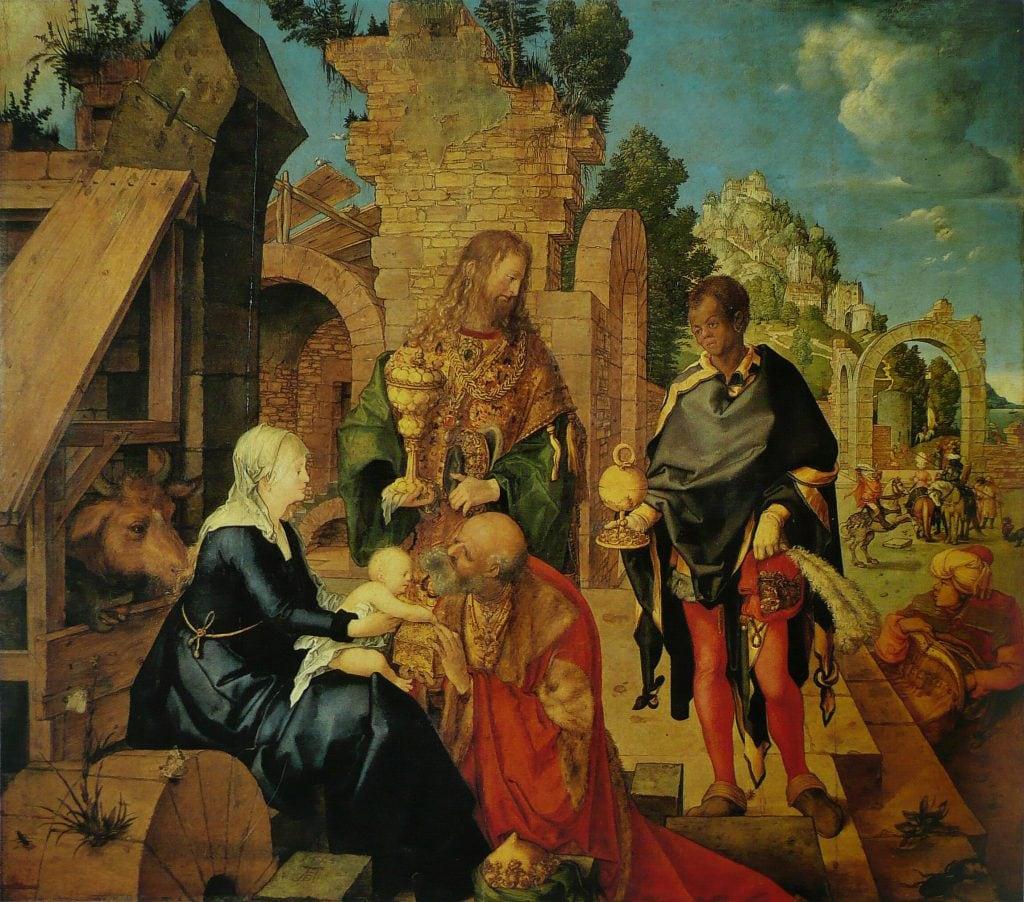 """Albrecht Dürer, """"Adorazione dei Magi"""", Galleria degli Uffizi"""