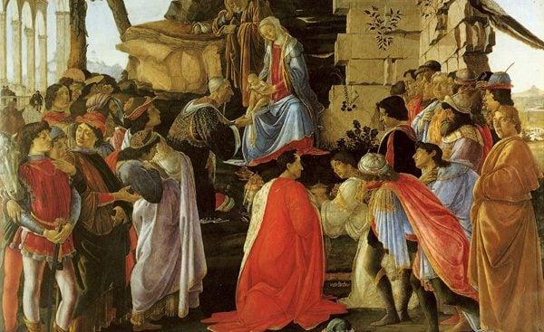 """""""Adorazione dei Magi"""", Sandro Botticelli, Galleria degli Uffizi"""