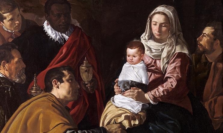 """""""Adorazione dei Magi"""" di Velasquez (1619), Museo del Prado, Madrid"""