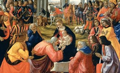 """""""Adorazione dei Magi Tornabuoni"""", il Ghirlandaio, Galleria degli Uffizi"""