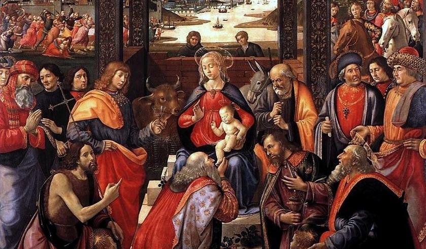"""""""Adorazione dei Magi degli Innocenti"""", il Ghirlandaio, Galleria dello Spedale degli Innocenti"""