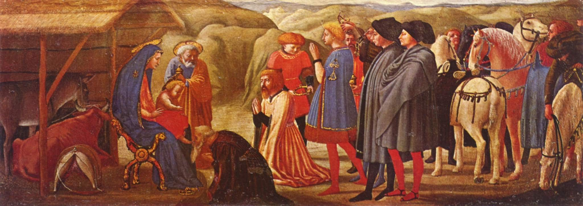 """""""Adorazione dei Magi"""", Masaccio (1426), Museo statale di Berlino"""