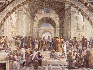 La scuola di Atene di Raffaello Sanzio