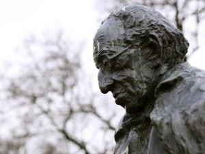 La statua del filosofo György Lukács