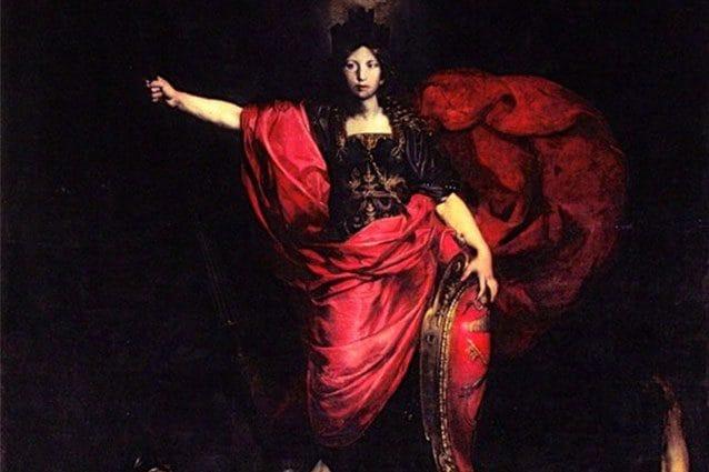Dettaglio dell'Allegoria dell'Italia di Valentin de Boulogne