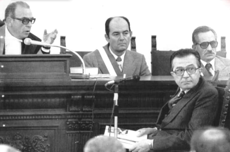 Giulio Andreotti al processo di Catanzaro