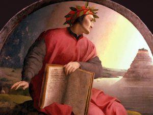 Un ritratto di Dante Alighieri, simbolo della lingua italiana