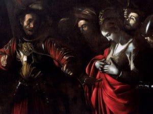 """Caravaggio, """"Il martirio di Sant'Orsola"""" (1610), Palazzo Zevallos, Napoli"""