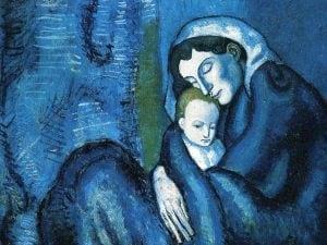 """Pablo Picasso, """"Madre e figlio"""" (1902)"""