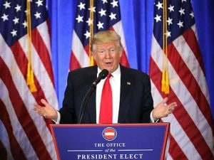 Donald Trump, presidente degli Stati Uniti d'America (Getty).