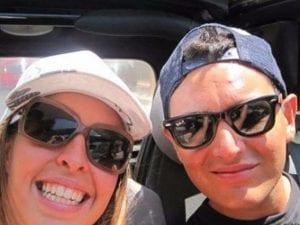 Erika Petri, insieme al fidanzato Dimitri (Facebook).