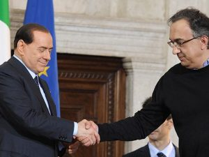 Silvio Berlusconi e Sergio Marchionne (Getty).
