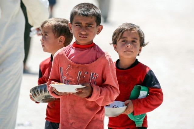Tutta la sofferenza nello sguardo dei bambini scappati da Raqqa (Foto Unicef)