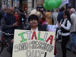 Flash mob a Milano per sostenere la legge sullo ius soli