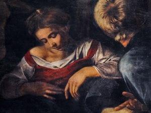 """Dettaglio della """"Natività"""" del Caravaggio"""