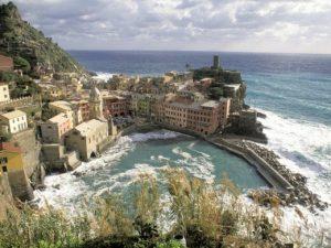 Il suggestivo paesaggio delle Cinque Terre, in Liguria.