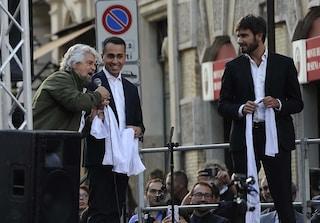 """Rosatellum bis, Grillo alla manifestazione M5s: """"Hanno paura, polizia accerchi il Senato"""""""