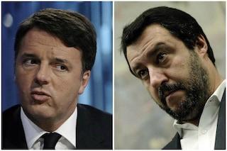 """Renzi contro Salvini: """"Villano, su inno nazionale non si scherza, sbeffeggia istituzioni"""""""