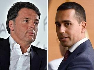 """Gilet Gialli, Renzi: """"Di Maio sta con i teppisti"""". Di Battista: """"Sei il Marilyn Manson di Rignano"""""""