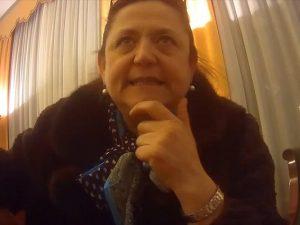 """Maria Grazia Canuto nel quarto video di """"Bloody Money""""."""