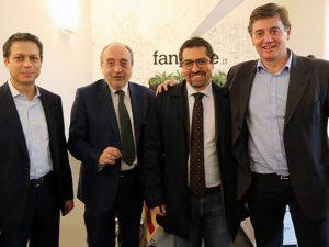 Da sinistra: Francesco Piccinini, Giuseppe Giulietti, Claudio Silvestri, Rino Genovese.