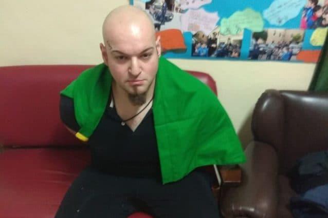 Luca Triani in stato di arresto.