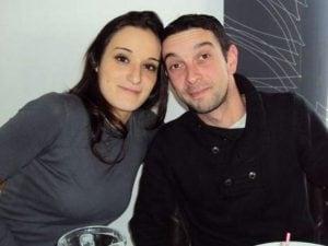 Edith Scaravetti e il marito Laurent.
