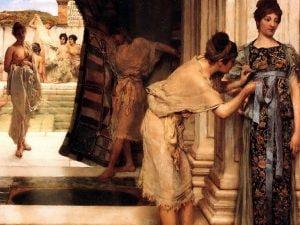 Il frigidarium delle terme, in un dipinto dell'olandese Lawrence Alma–Tadema.