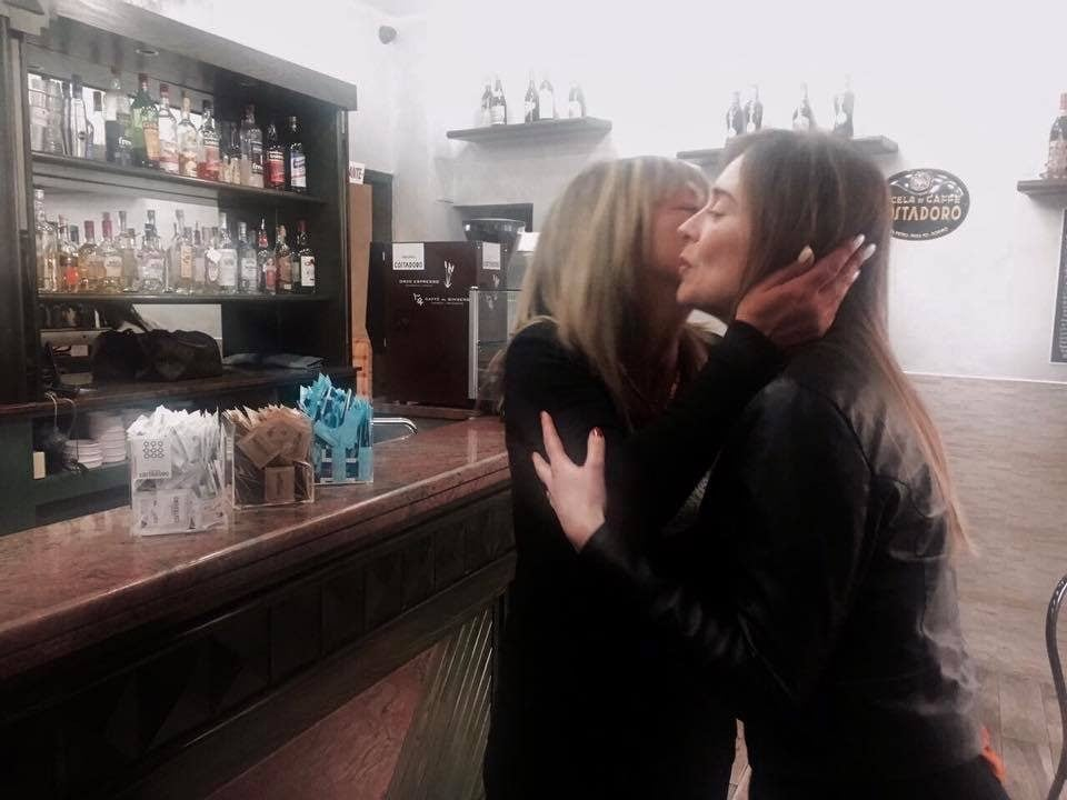 Elena Farina con Maria Elena Boschi