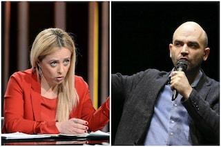"""Meloni attacca Saviano su caso Segre: """"Vergogna, strumetalizza la storia per tornaconto politico"""""""