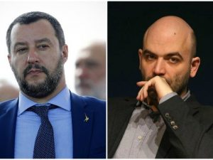 """Risultati immagini per Diciotti, Saviano: """"Salvini ci ripensa, ora il processo inizia a fargli paura"""""""