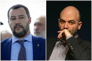 """Salvini contro Saviano: """"È pericoloso"""". La replica: """"Cerca solo un po' di attenzione"""""""