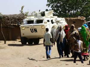 Un campo profughi in Sudan (Gettyimages)