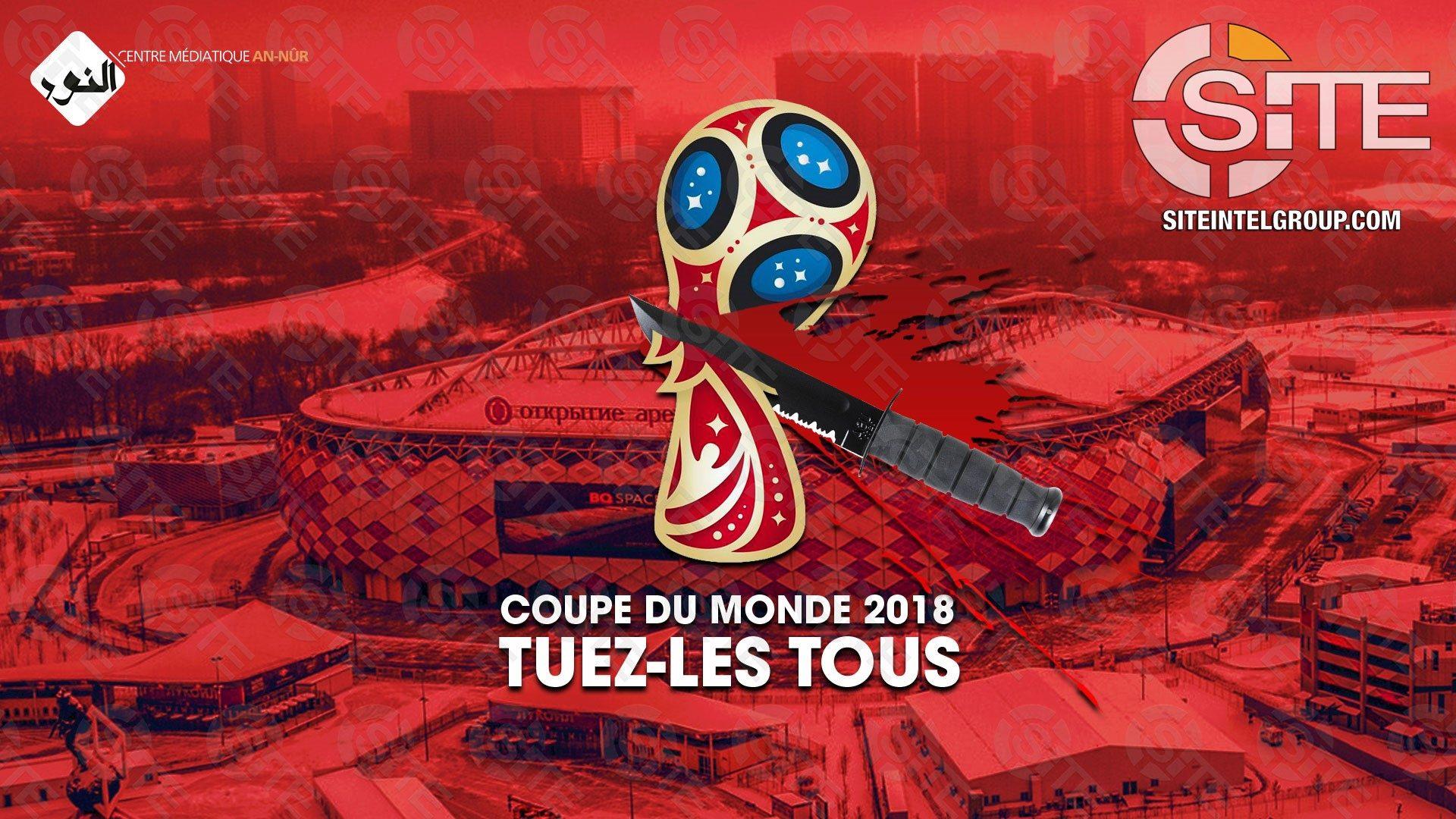 La propaganda jihadista incita i suoi seguaci ad attaccare durante i campionati del mondo di calcio in Russia (Site)