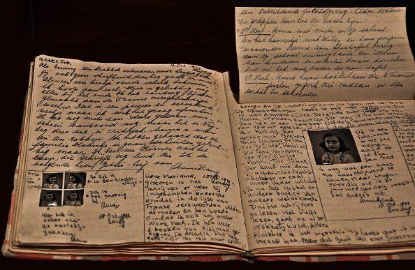 Una pagina del Diario di Anna Frank.