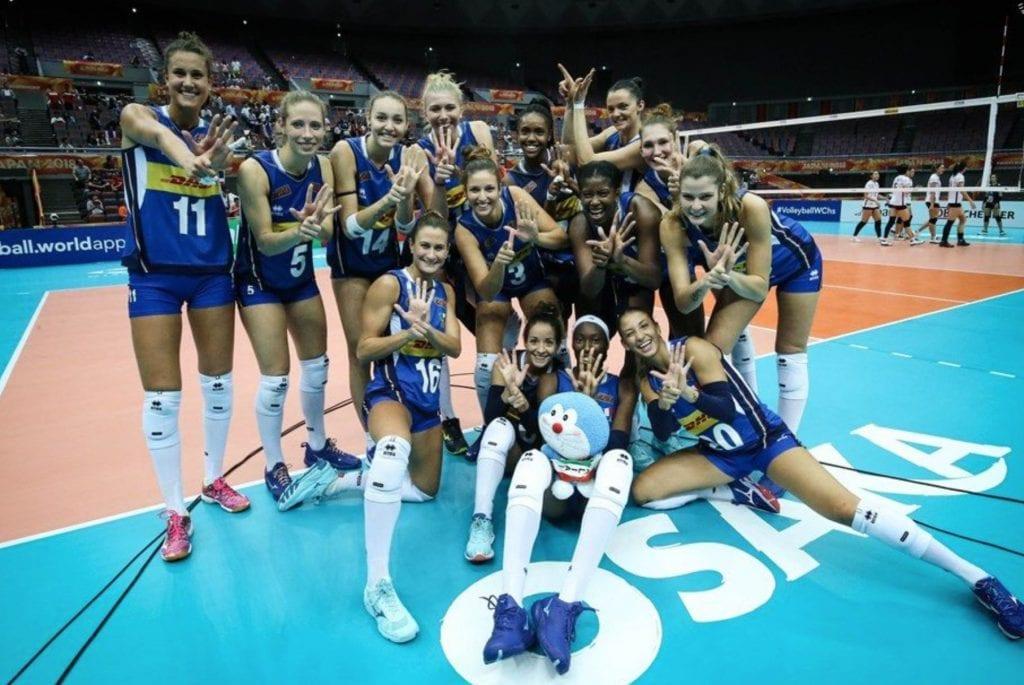 L'Italia torna tra le prime 4 nel Mondiale di Pallavolo.