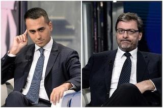 """Europee, Giorgetti: """"Così non si può andare avanti"""". Di Maio: """"Lega vuole tornare con Berlusconi"""""""