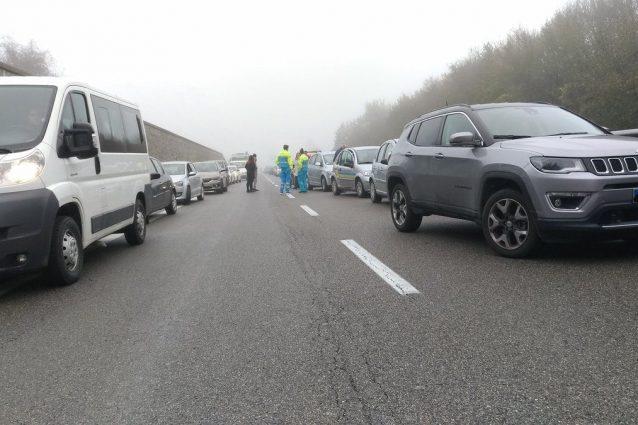 Traffico in tilt sulla statale Siena-Bettolle (Twitter).