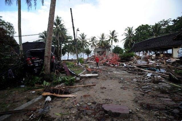 La provincia di Benten distrutta dallo Tsunami (Getty Images)