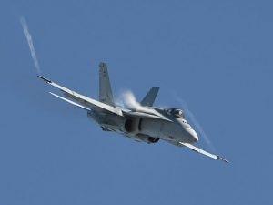 Caccia militare FA-18 (Getty).