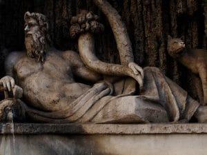 Il Tevere, una delle celebri Quattro Fontane a Roma.