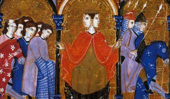 Miniatura del XV secolo che raffigura il dio romano Giano (Conde Museum, Chantilly).