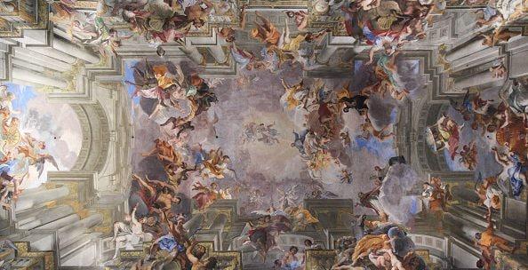 La volta della chiesa di Sant'Ignazio di Loyola, a Roma.
