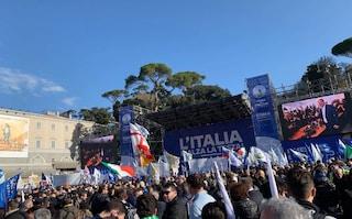 """Salvini riempie piazza del Popolo: """"Governeremo 5 anni e cambieremo il Paese"""""""