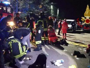 I vigili del fuoco intervenuti a Corinaldo